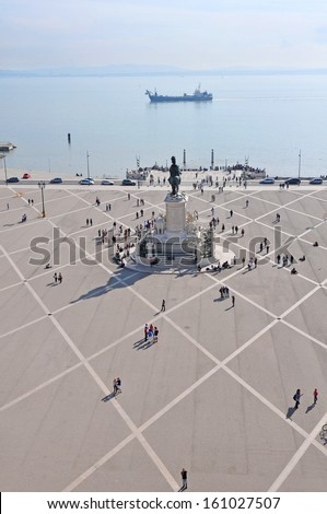 Lisbon Commerce Square, Portugal - stock photo