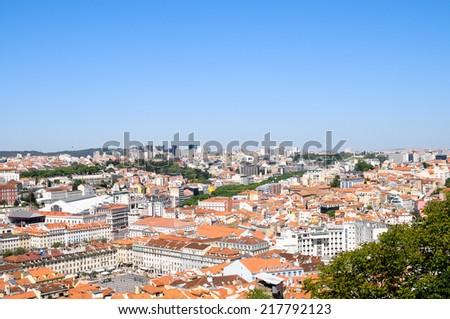 Lisbon panorama, Portugal - stock photo