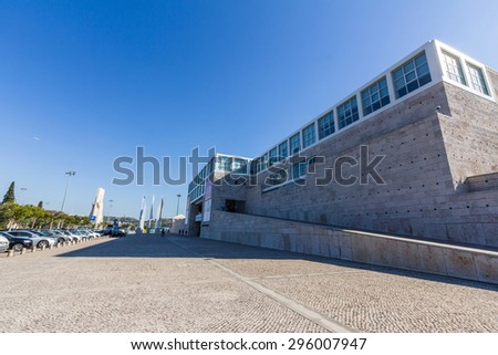 LISBON, PORTUGAL - MAY 26, 2015: Centro Cultural de Belem is a major museum and cultural center showing exhibitions a art collections like the Berardo Museum and music concerts. - stock photo