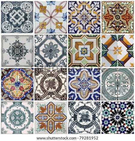 Lisbon tiles - stock photo