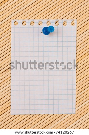List from a notebook, with an empty place for your text - stock photo