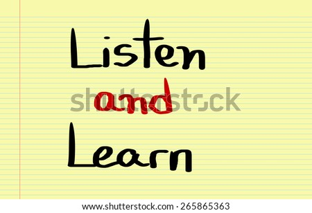 Listen And Learn Concept - stock photo