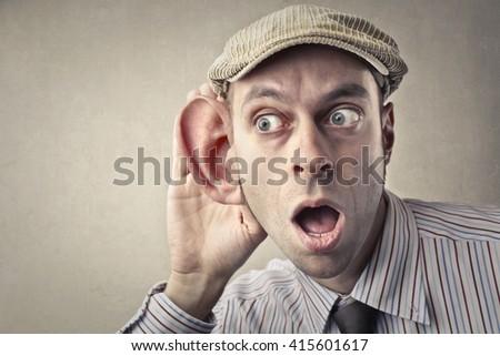 Listen carefully - stock photo