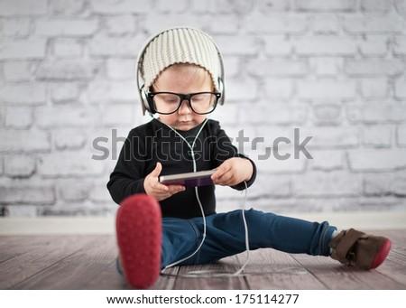 Listener - stock photo