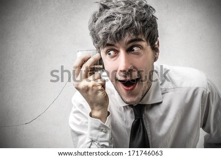 listening to secrets - stock photo