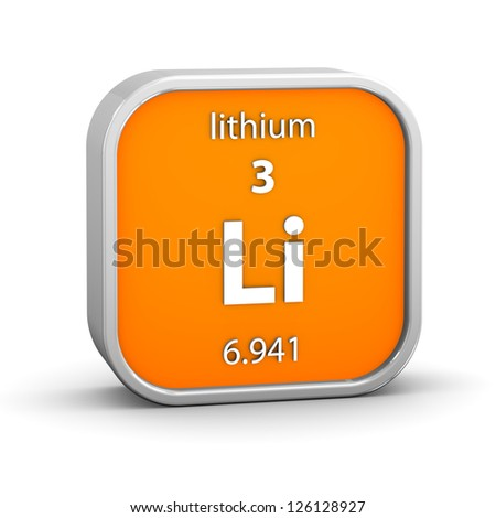Lithium material on the periodic table. Part of a series. - stock photo