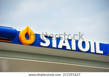LITHUANIA - SEPTEMBER 12: Statoil petrol station on September 12, 2014 in Lithuania. Statoil ASA is a Norwegian multinational oil and gas company with operations in thirty-six countries. - stock photo