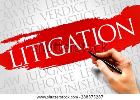 Litigation word cloud concept - stock photo