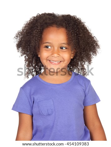 Little african girl with four years with a beautiful expression  - stock photo