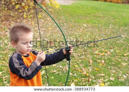 Little archer - stock photo