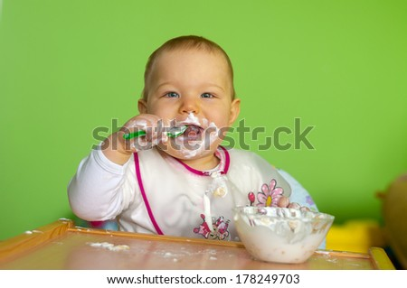 little baby - stock photo