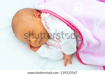 little baby are sleeping - stock photo