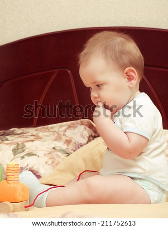 Little baby boy - stock photo