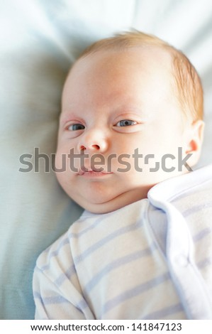 Little baby boy portrait - stock photo