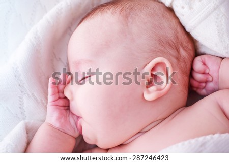 little baby girl - stock photo