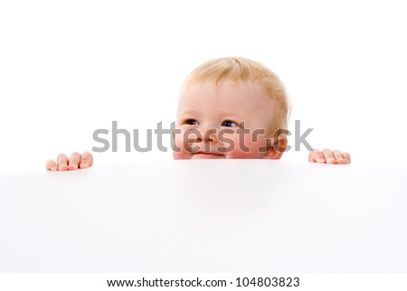 little baby pry isolated on white background - stock photo