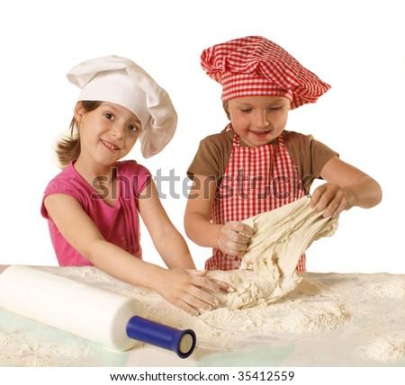 Little bakers - stock photo