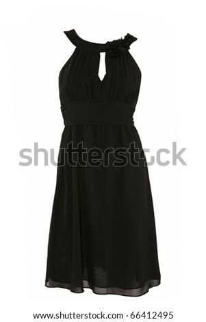 Little black dress isolated on white - stock photo
