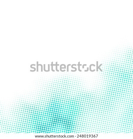 little blue dots and diamonds pattern, subtle raster, white background - stock photo