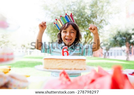 little boy birthday party - stock photo