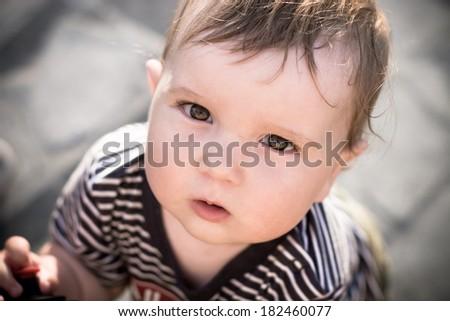 Little boy portrait - stock photo