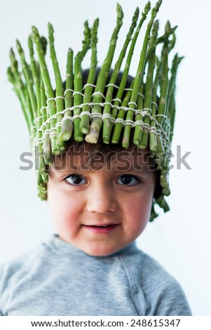 Little boy with a crown - stock photo