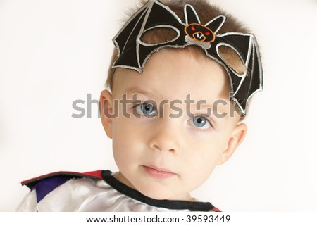 little boy with mask - stock photo