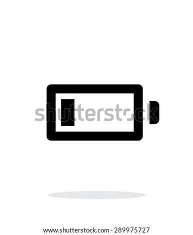 Little charge battery simple icon on white background. - stock photo