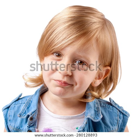 Little cute girl smiling and having fun - stock photo
