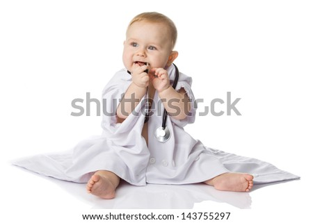 little doctor - stock photo