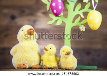 Little easter duck - stock photo