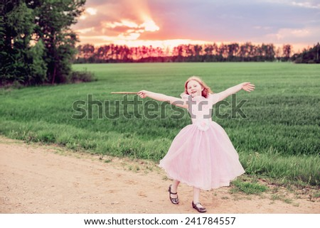 little fairy outdoor - stock photo