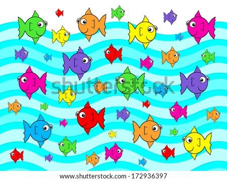 Little Fish Big Fish - stock photo