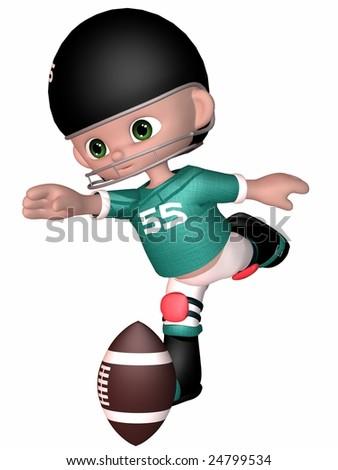 Little Football Player - Toon Figure - stock photo