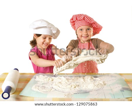 Little funny bakers - stock photo
