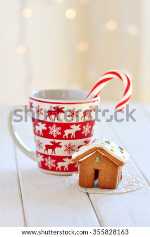 Little gingerbread house for Christmas - stock photo