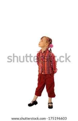 Little girl. - stock photo