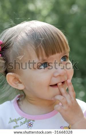 Little girl portrait - stock photo