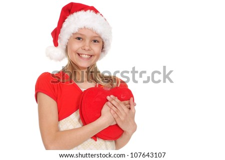 Little girl showed herself in the photos in all her glory - stock photo