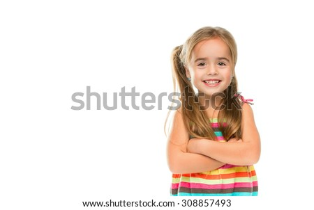 Little Girl Smiling - Stock image - stock photo