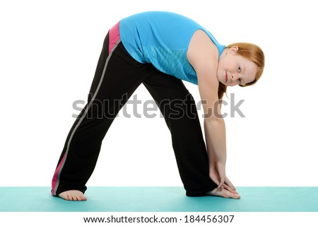little girl stretching - stock photo