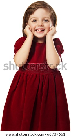 little girl with best dress - stock photo