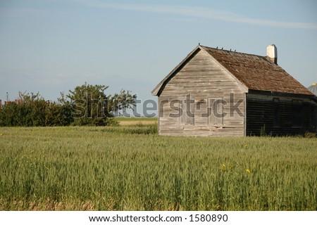 little house on the prairie - stock photo