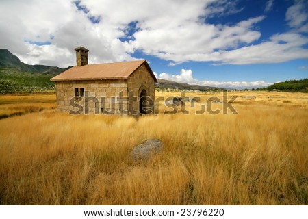 Little House on the Prairie - stock photo