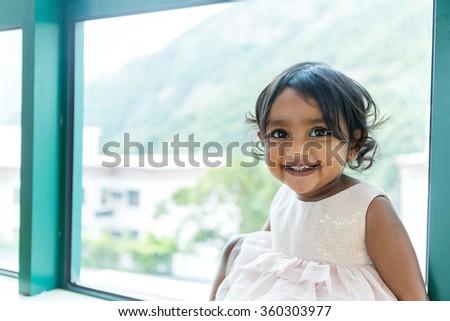 Little indian baby girl - stock photo