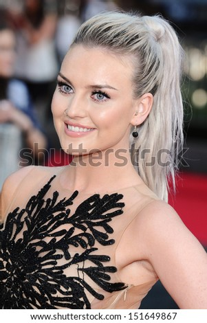 "Little Mix singer, Perrie Edwards arriving for the ""One Direction: This is Us"" World premiere at the Empire, Leicester Square, London. 20/08/2013 - stock photo"