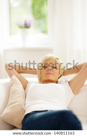 Little nap during the day - stock photo