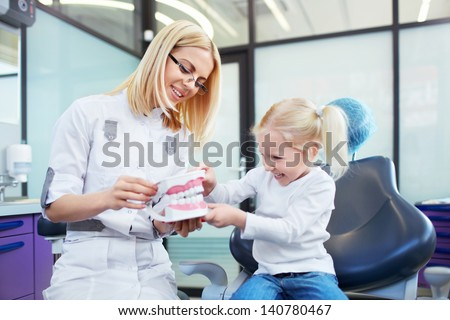 Little patient at the dentist's office - stock photo