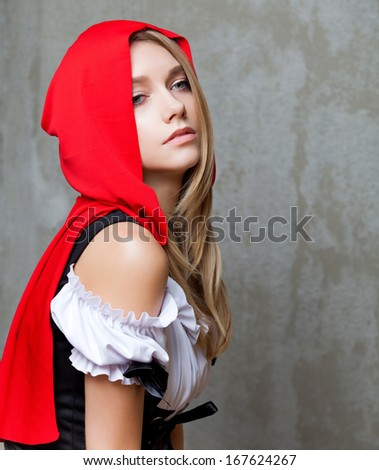 Little Red Riding Hood  - stock photo
