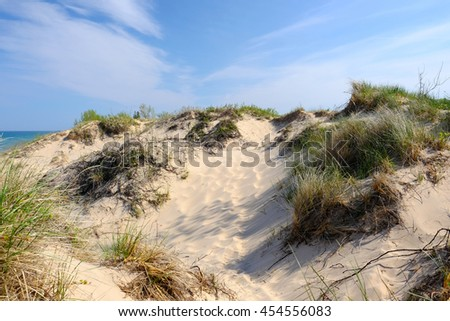 Little Sable Point Dunes, Michigan, USA - stock photo